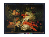 Still Life with Lobster, 1660 Giclee Print by Joris van Son