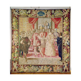 The Tapestry of Charles V Depicting the Marriage of Charles V to Isabella of Portugal in 1526,… Giclee Print