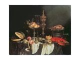 Still Life with a Lobster and a Turkey Giclee Print by Abraham Hendricksz Van Beyeren
