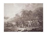 The Death of Captain Cook, Engraved by Francesco Bartolozzi, Pub. 1784 Giclee Print by John Webber