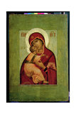 The Vladimir Madonna of Humility, Russian Icon Giclee Print by Simon Ushakov