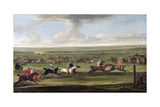 A Race on the Beacon Course at Newmarket, C.1750 Giclee Print by John Wootton