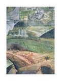 The Arrival of Cardinal Francesco Gonzaga; Marble Quarry Workings and an Idealised View of Rome,… Giclee Print by Andrea Mantegna
