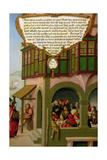 Jesus Eating with the Taxpayers and Sinners (Matthew 9, Mark 2, Luke 5) Section of Wing Panel… Giclee Print by Matthias Gerung or Gerou