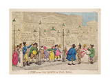 A Peep at the Gas Lights in Pall Mall Giclee Print by Thomas Rowlandson