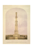 Design for Converting the Crystal Palace into a 1000 Ft High Tower, Pub. by Ackermann and Co., 1852 Giclee Print by Charles Burton