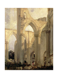 Transept of the Abbey of St. Bertin, St. Omer, France Giclee Print by Richard Parkes Bonington