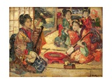 Geishas in an Interior, 1894 Giclee Print by Edward Atkinson Hornel