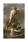 Diana the Hunter, C.1624-25 Giclée-tryk af Orazio Gentileschi
