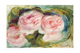 The Three Roses Giclee Print by Pierre Auguste Renoir