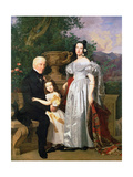 The Kerzman Family, C.1840 Giclee Print by Ferdinand Georg Waldmuller