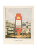 A Grave Idea: an Apartment for a Single Gentleman, Pub. 1828 Giclee Print by T. Jones