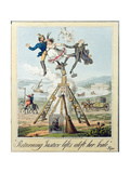 Returning Justice Lifts Aloft Her Scale, Published by G. Humphrey, London, 1821 Giclee Print by Theodore Lane