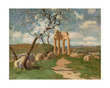 Almond Trees and Ruins, Sicily, C.1887 Giclee Print by John Peter Russell