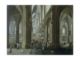Interior of the Cathedral of Our Lady of Antwerp Giclee Print by Pieter The Elder Neeffs