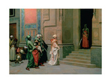 Outside the Palace Giclee Print by Ludwig Deutsch