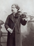 Pablo De Sarasate (1844-1908) with His Violin Photographic Print by Reutlinger Studio