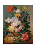 Flowers, C.1840's Giclee Print by Emily Stannard