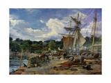 The Pier Head, Aberdour, Firth of Forth, 1865 Giclee Print by Samuel Bough