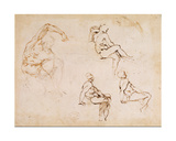 Figure Drawings Giclee Print by  Michelangelo Buonarroti