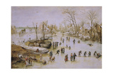 Skaters on the Lake Giclee Print by Jan Brueghel the Younger