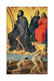 The Damned on their Way to Hell and the Heavenly Realm of Saints, from the Last Judgement,… Giclée-Druck von Rogier van der Weyden
