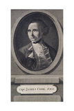 Captain James Cook, Engraved by James Tookey, Pub. 1784 Giclee Print by William Hodges