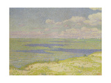 View of the River Scheldt, 1893 Gicléetryck av Théo van Rysselberghe
