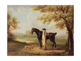 Horse, Rider and Whippet Giclee Print by George Garrard
