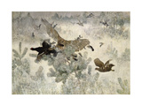 Hawk and Black Game, 1884 Giclee Print by Bruno Andreas Liljefors