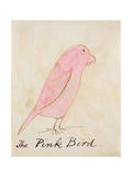 The Pink Bird, from 'sixteen Drawings of Comic Birds' Giclee Print by Edward Lear