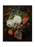Still Life of Hanging Flowers Giclee Print by Abraham Mignon