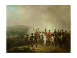 The Eagle Standards Taken at Waterloo Returned to Wellington, 18th June 1815 Giclee Print by Mathieu Ignace van Bree