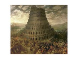 The Tower of Babel Giclee Print by Tobias Verhaecht