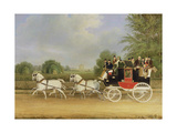 The London-Farringdon Coach Passing Buckland House, Berkshire Giclee Print by James Pollard