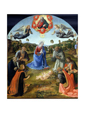 The Adoration of the Child Jesus, 1480s Giclée-tryk af Cosimo Rosselli