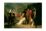 Lear and Cordelia, C.1820 Giclee Print by Henry Howard