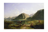 End of Lake Geneva, 1835 Giclee Print by Francis Danby