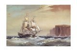 Emigrant Ship Arriving Off Sydney Heads, 1883 Giclee Print by Oswald Walter Brierly