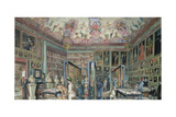 The Genealogy Room of the Ambraser Gallery in the Lower Belvedere, 1888 Giclee Print by Carl Goebel