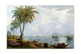 A View of Calcutta, from a Point Opposite to Kidderpore, 1837, Engraved by Robert Havell the… Giclee Print by James Baillie Fraser