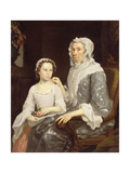 Portrait of an Elderly Lady and a Young Girl Giclee Print by George Beare