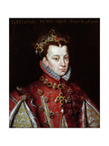 Portrait of Elizabeth De Valois (1545-68) Queen of Spain Giclee Print by Alonso Sanchez Coello