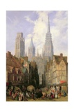 Rouen Cathedral Giclee Print by Lewis John Wood