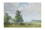Englefield Green, Near Egham Reproduction procédé giclée par Paul Sandby