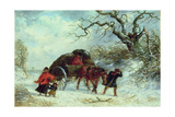 The Carriers Cart - Winter Giclee Print by Thomas Smythe
