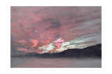 Stormy Sunset from Brantwood, Ruskin's Home in Cumbria Giclee Print by John Ruskin