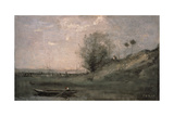 Breakwater, Normandy Giclee Print by Jean-Baptiste-Camille Corot