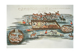 Spanish Fort Built for Defence Against the Indians, from 'Hacia Alla Y Para Aca' (Facsimile Copy) Giclee Print by Florian Paucke