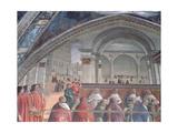 The Loggia and Palazzo Della Signoria, Sassetti Chapel, 1483 (Detail) Giclee Print by Domenico Ghirlandaio